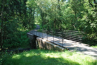 Grorud - Image: Alnaparken with bridge