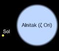 Alnitak sol comparación de tamaños.png