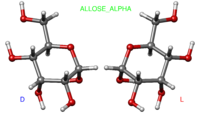 Ball-and-stick model of Alpha-allose (D, L)