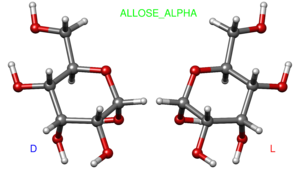 Allose - Image: Alpha allose ball and stick
