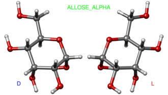 Allose - Image: Alpha allose ball and stick