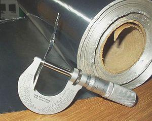 Aluminium foil - Image: Aluminium foil micrometer