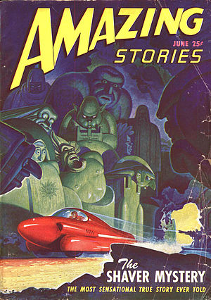 Amazing Stories - June 1947 issue of Amazing Stories, featuring the Shaver Mystery