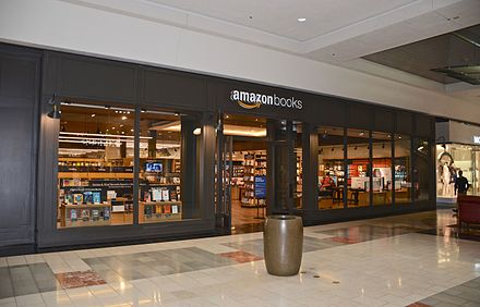 Amazon Books opened its third store in the Washington Square mall in the Portland metropolitan area. Amazon Books at Washington Square - Tigard, Oregon (2017).jpg