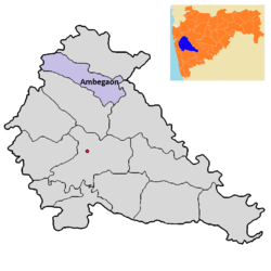 Ambegaon tehsil in Pune district.png