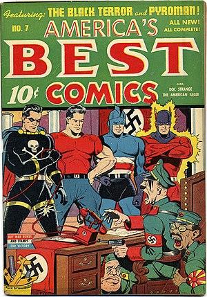 Nazis in fiction - America's Best Comics #7 October 1943