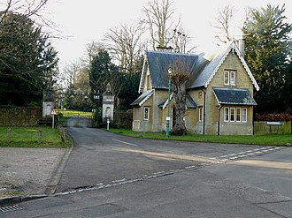 St. Mary Mead - The East Lodge as seen in the TV episode The Mirror Crack'd from Side to Side featuring Joan Hickson as Miss Marple.