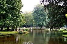 Vue du Vondelpark, principal parc d'Amsterdam.