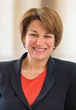 Amy Klobuchar, official portrait, 113th Congress (cropped)