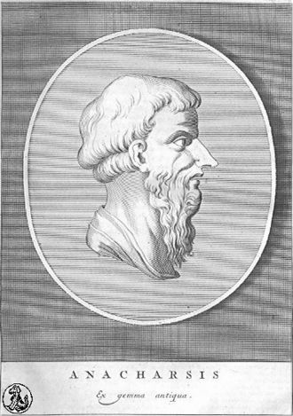 Anacharsis - 18th-century portrait, based on an ancient engraved gem.