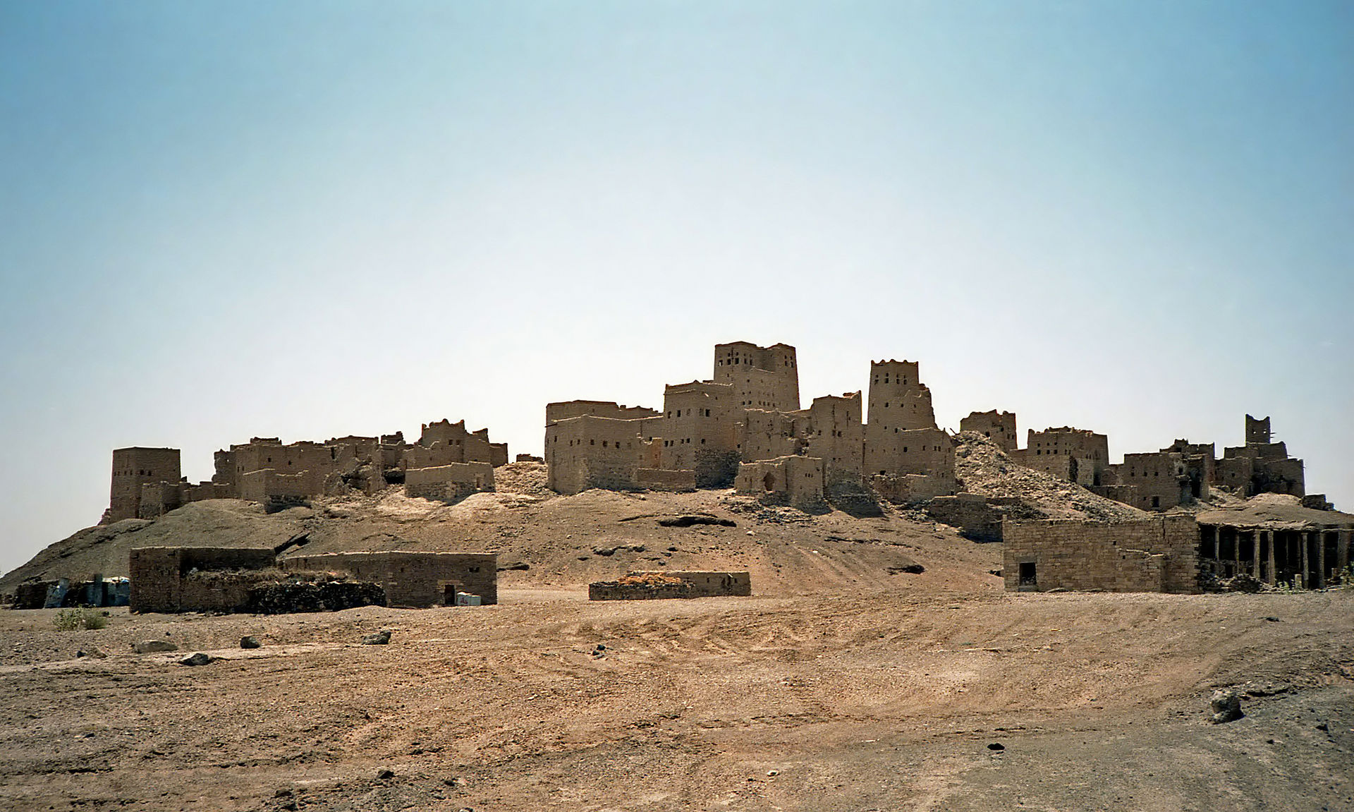 The ruins of Old Ma'rib, which lies to the south of the modern city