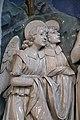 Andrea della robbia, fonte battesimale con battesimo di gesù nel giordano, 03 angeli.jpg
