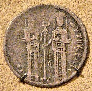 Andronikos II Palaiologos - Andronikos II and Michael IX Palaeologus (Silver basilikon)