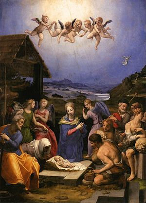 Adoration of the Shepherds (Domenichino) - Image: Angelo Bronzino Adoration of the Shepherds WGA3276