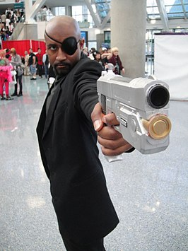 Cosplayer - Nick Fury tijdens Anime Expo 2011.