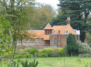 Anmer Hall - Anmer Hall, shown with new roof, in October 2014