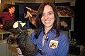 Ann Froschauer with Rodrigues fruit bat (7241386660).jpg