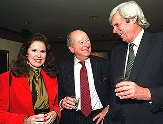 George Plimpton - Plimpton with Herb Caen and Ann Moller in 1993