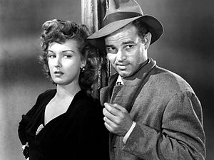 Ann Savage - Ann Savage and Tom Neal in a scene from Detour