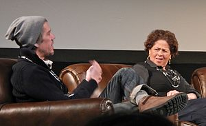 Stephen Gaghan - Gaghan and Anna Deavere Smith at the 2012 Sundance Film Festival