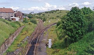 Annbank railway station railway station in South Ayrshire, Scotland, UK
