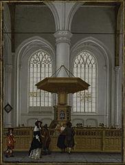 Interior of the Laurenskerk at Rotterdam