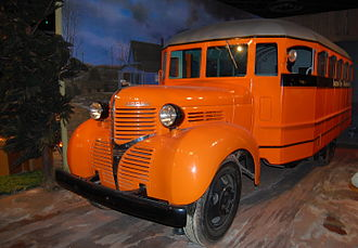 Carpenter Body Company - A 1939 Carpenter school bus, built on a Dodge chassis, on display at the National Museum of American History.