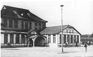 Dandong - Andong Railway Station during the Manchukuo period