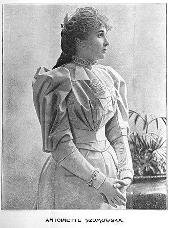 Antoinette Szumowska - Cover image of Antoinette Szumowska from Freund's Musical Weekly