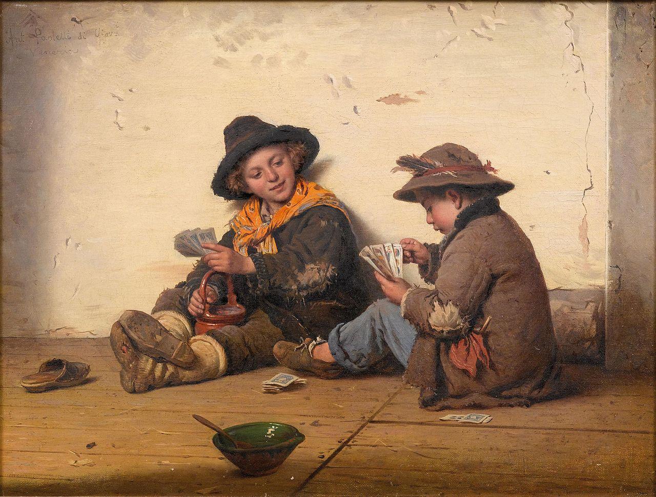 Antonio Ermolao Paoletti Kartenspielende Kinder.jpg