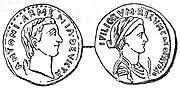 Coin of Antony and Cleopatra.
