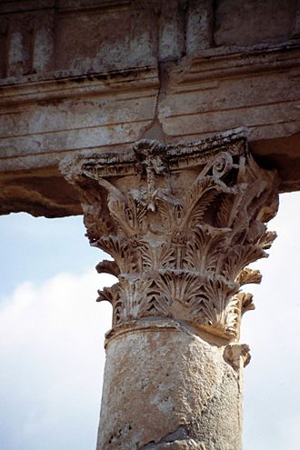 Apamea, Syria - An example of the ornamental ruins.