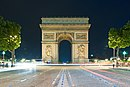 Arc by night, Paris 27 June 2012.jpg