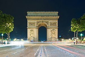 Triumphal arch - The Arc de Triomphe, Paris