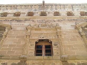 Arnes, Terra Alta - A window of the Town Hall.