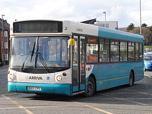 Alexander ALX200 - An ALX200 bodied Dennis Dart SLF, in service with Arriva Buses Wales.