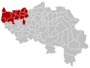 Arrondissement of Waremme - Image: Arrondissement Waremme Belgium Map