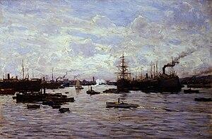 Giorgio Belloni - Meriggio nel porto, 1923 (Fondazione Cariplo)
