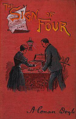 Arthur Conan Doyle - The Sign of Four, cover 1892