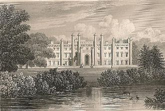 John Preston Neale - Neale's drawing of Ashburnham Place, Sussex (1828)