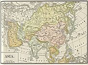 Map of Asia published in 1892.