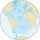 Karte des Atlantiks
