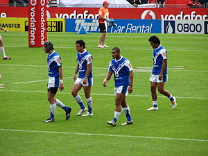 Auckland rugby league team - Auckland Lions Premier League players during at match against St George Illawarra in 2007