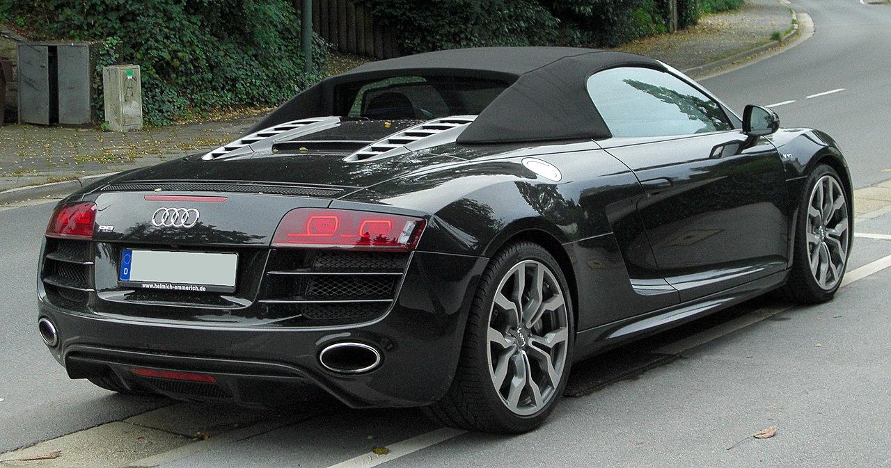 Audi audi r8 spyder v10 : File:Audi R8 Spyder V10 rear 20101002.jpg - Wikimedia Commons