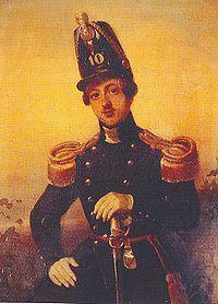 August Willem Philip Weitzel als luitenant van het 10e regiment infanterie in 1846. Ongesigneerd portret.jpg