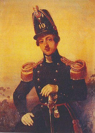 August Willem Philip Weitzel - Luitenant Weitzel of the 10th Infantry Regiment in 1846