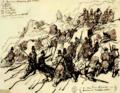 Auguste Raffet, Algérie et camp de Compiègne (120) Le capitaine Espinasse au combat 1844 mars 15 a M'chounech.png