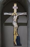 Augustins - Le Christ en croix avec l'orant du cardinal Guilhem Peire Godin - 49 6 15.jpg