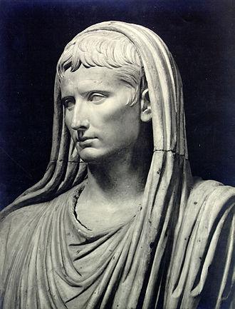 Glossary of ancient Roman religion - Augustus, capite velato