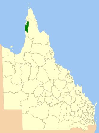 Shire of Aurukun - Location within Queensland